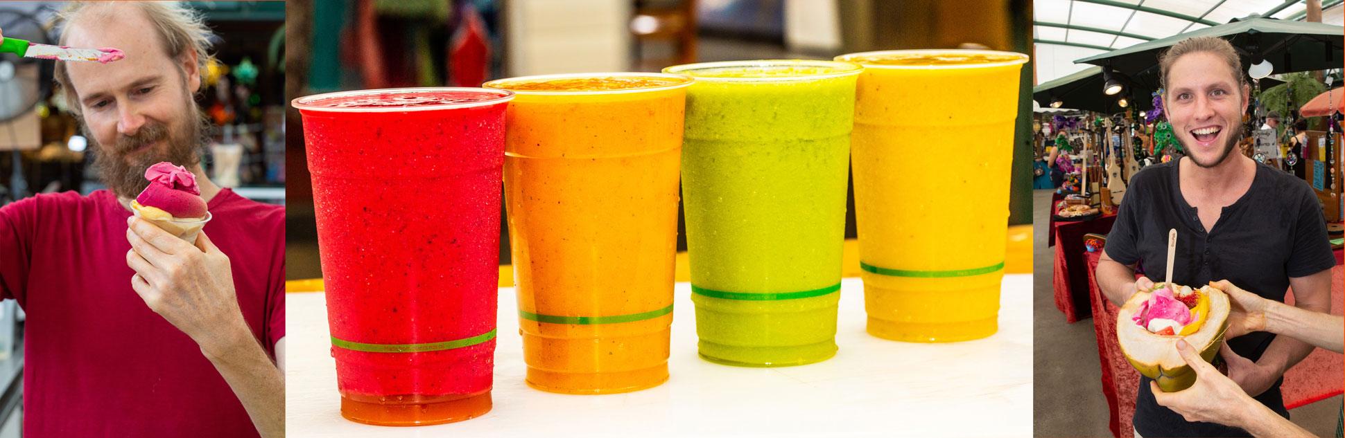 Organic Juice and food